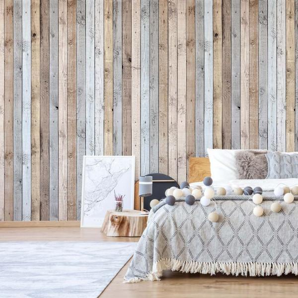 Rustic Wood Planks Texture Photo Wallpaper Wall Mural