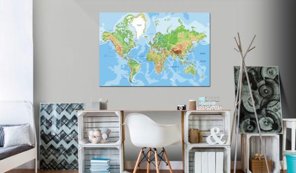 Tablou din plută - World Geography [Cork Map]