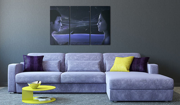 Tablou - Magnetic gaze - triptych