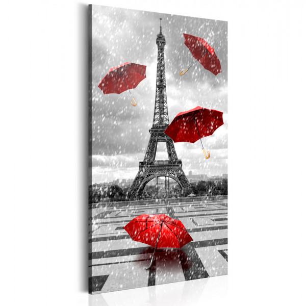 Tablou - Paris: Red Umbrellas