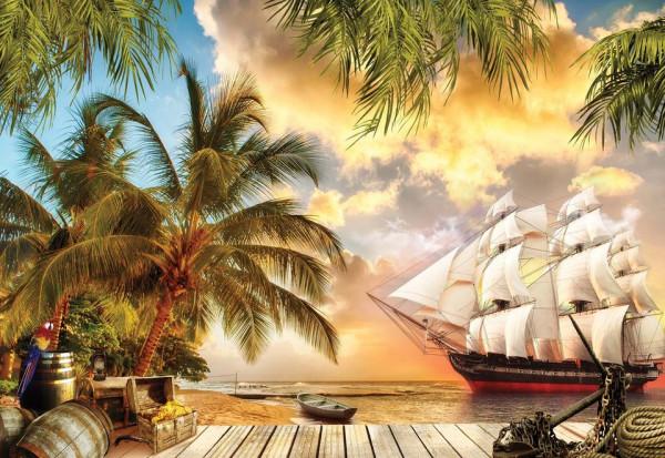Tropical View Photo Wallpaper Wall Mural