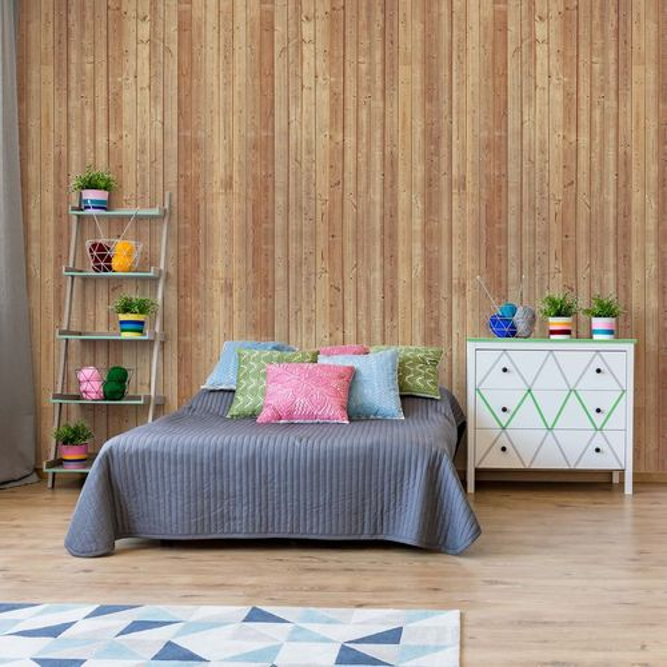 Wood Planks Light Colour Photo Wallpaper Wall Mural