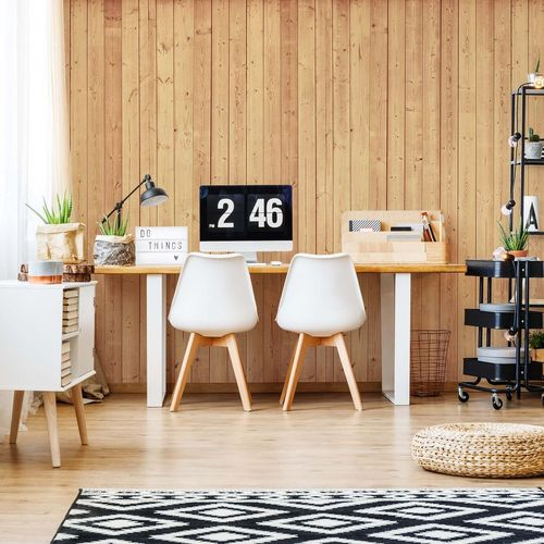 Wood Planks Light Colour Photo Wallpaper Wall Mural