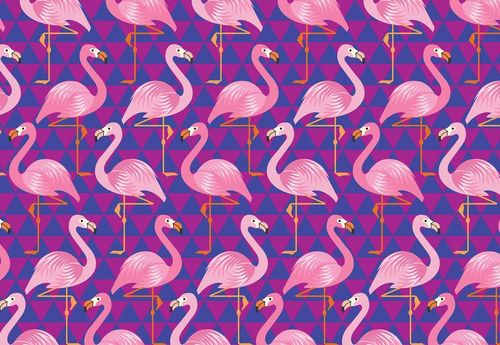 Flamingo Pattern Photo Wallpaper Wall Mural