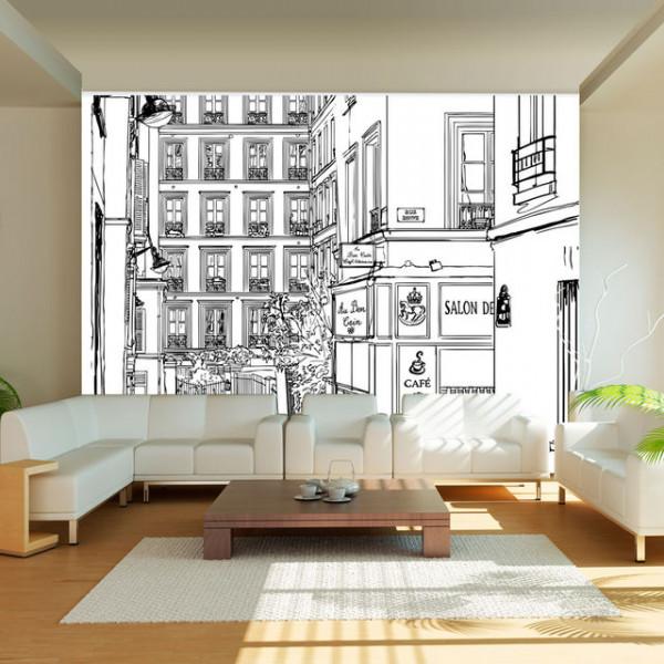 Fototapet - A walk through Parisian streets