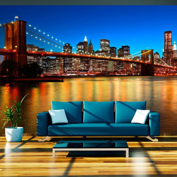 Fototapet - Dusk over the Brooklyn Bridge