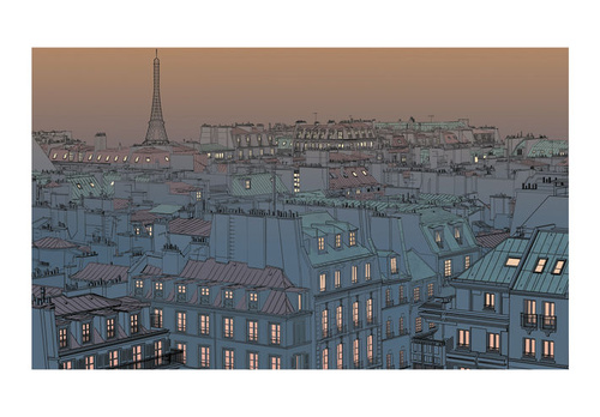 Fototapet - Good evening Paris!
