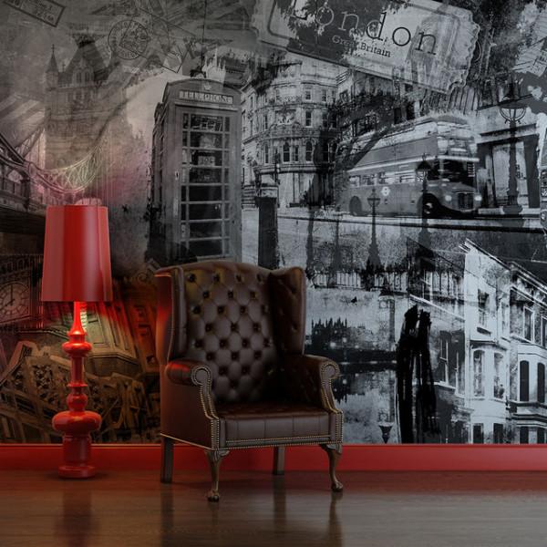 Fototapet - London, London... (black and white)