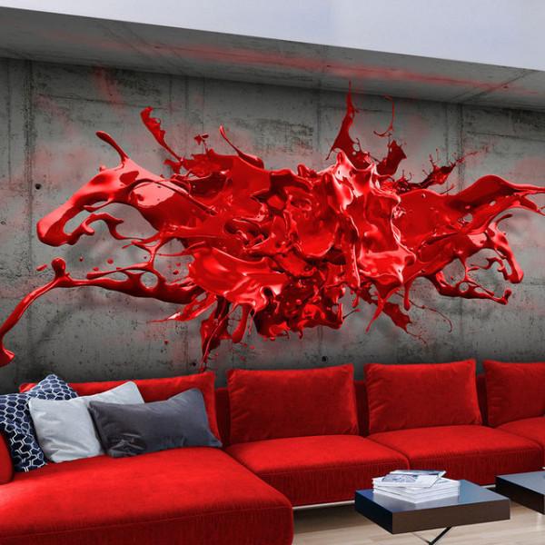 Fototapet - Red Ink Blot