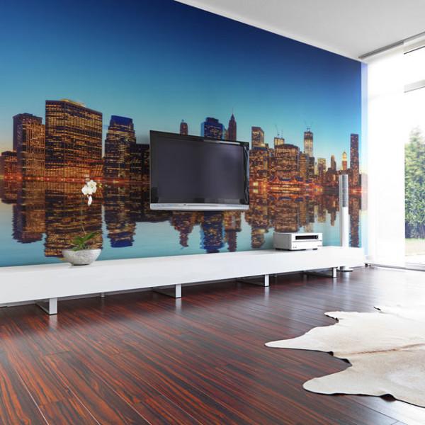 Fototapet - Skyline of New York from the water