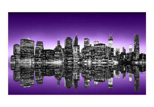 Poze Fototapet - The Big Apple in purple color