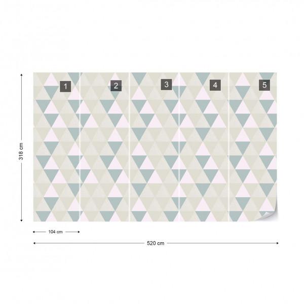 Modern Geometric Triangle Pattern Photo Wallpaper Wall Mural