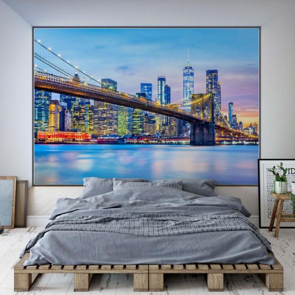 Penthouse View of Brooklyn Bridge New York