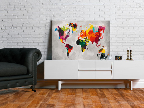 Poze Pictatul pentru recreere - World Map (Bright Colours)