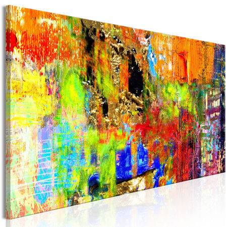 Tablou - Colourful Abstraction (1 Part) Narrow