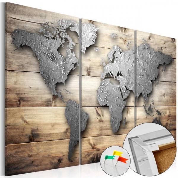 Tablou din plută - Doors to the World [Cork Map]