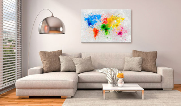 Tablou din plută - Expressionism of the World [Cork Map]