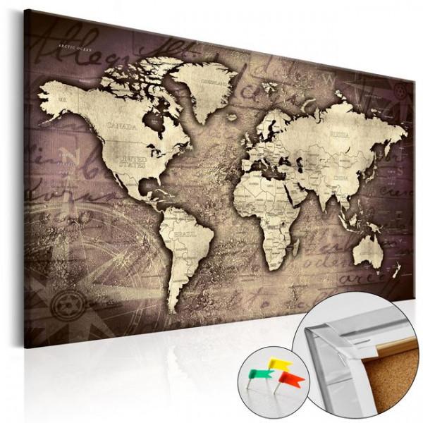 Tablou din plută - Precious World [Cork Map]