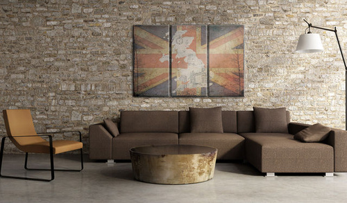Poze Tablou - Map of Great Britain - triptych