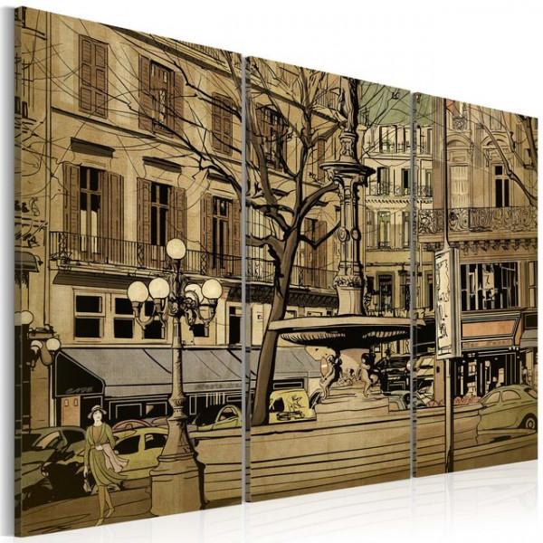 Tablou - Parisian fountain in sepia
