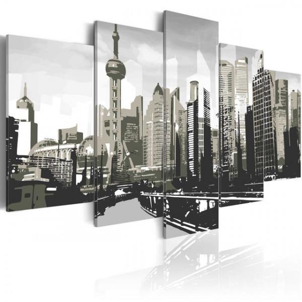 Tablou - Shanghai, China´s largest city