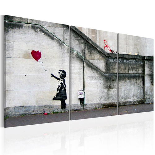Poze Tablou - There is always hope (Banksy) - triptych