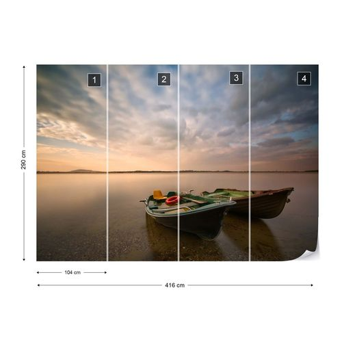 Boats Photo Wallpaper Mural