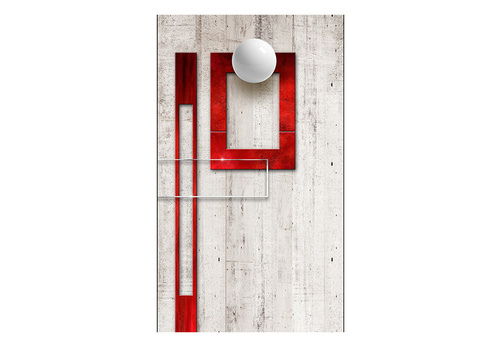 Poze Fototapet - Concrete, red frames and white knobs