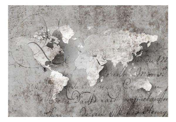 Fototapet - Map and letter