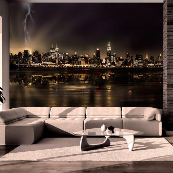 Fototapet - Storm in New York City