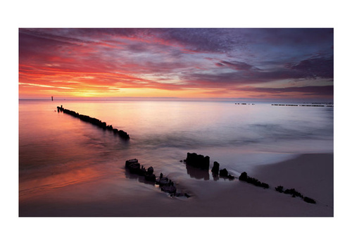 Fototapet - Sunrise over the Baltic Sea