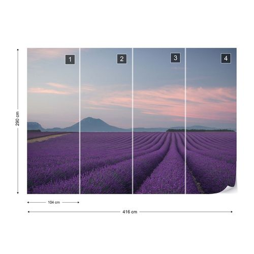 Lavender Field Photo Wallpaper Mural