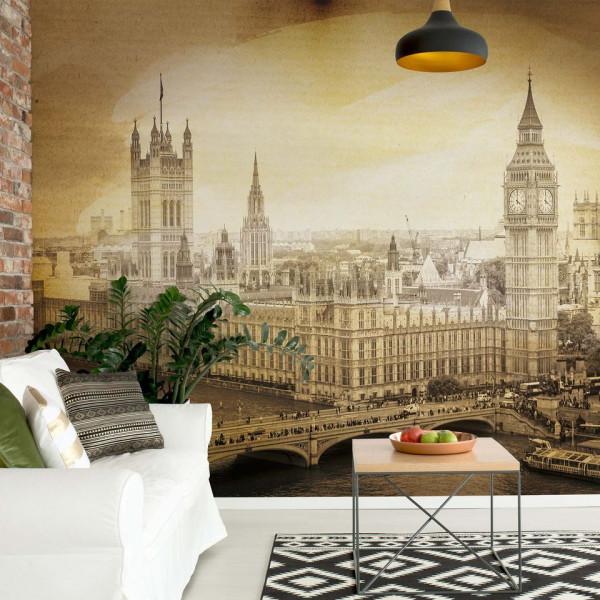London Vintage Sepia Photo Wallpaper Wall Mural
