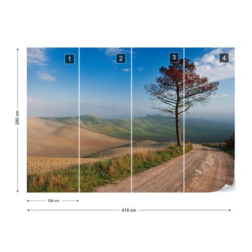 Lonely Tree Photo Wallpaper Mural