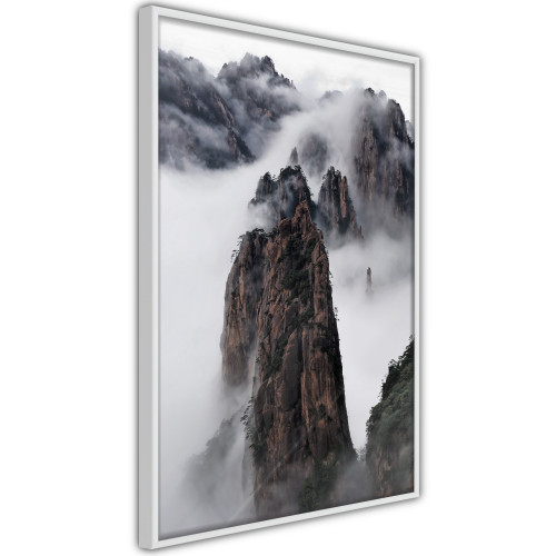 Poster - Clouds Pierced by Mountain Peaks