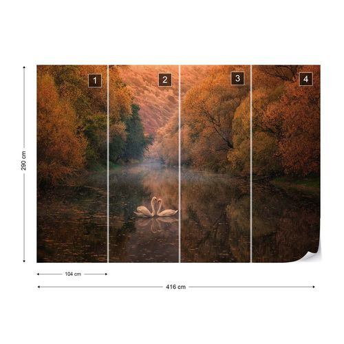 Romantic River Photo Wallpaper Mural
