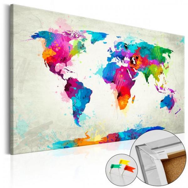 Tablou din plută - An Explosion of Colors [Cork Map]