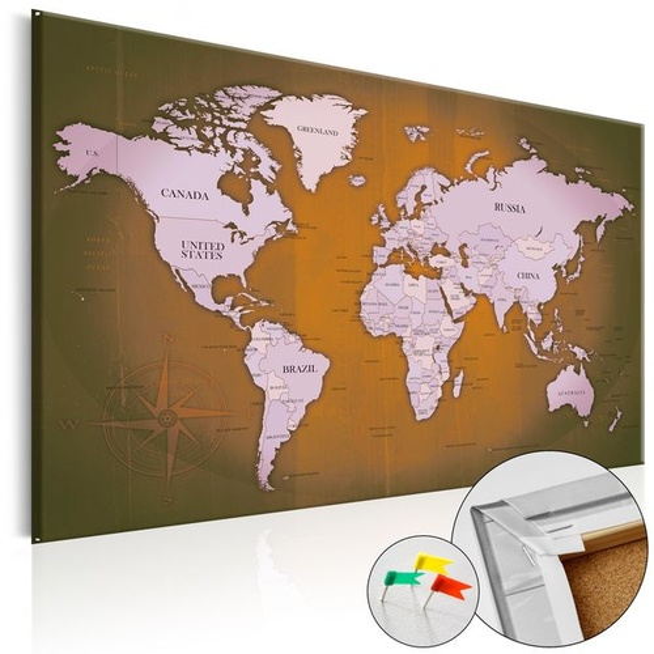 Tablou din plută - Copper Travels [Cork Map]