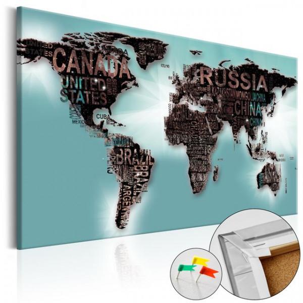 Tablou din plută - Subtlety of the World [Cork Map]