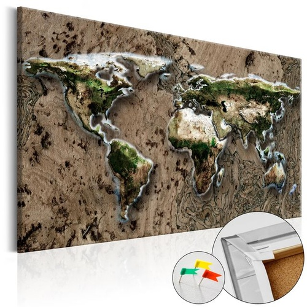Tablou din plută - Wild World [Cork Map]