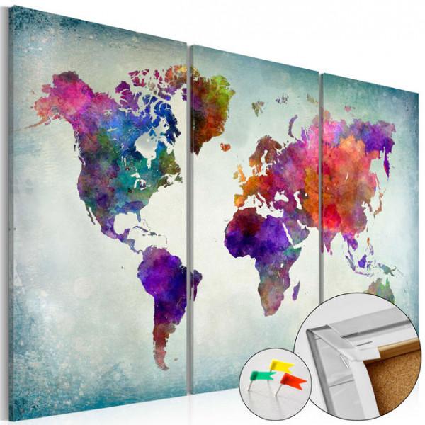 Tablou din plută - World in Colors [Cork Map]