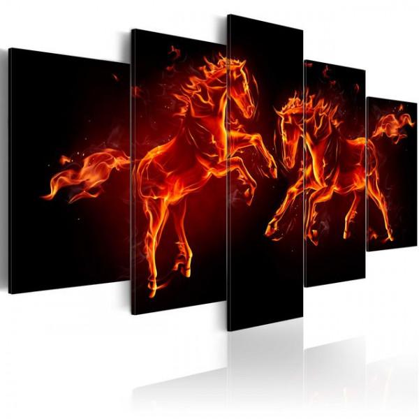 Tablou - Fiery Horses