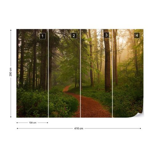The Red Path Photo Wallpaper Mural