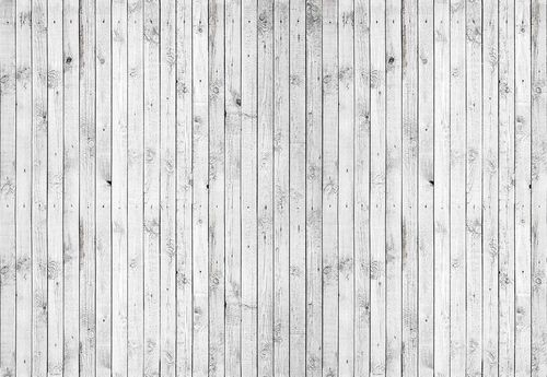 Wooden Planks Texture Grey And White Photo Wallpaper Wall Mural
