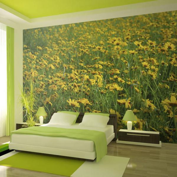 Fototapet - A meadow of yellow flowers