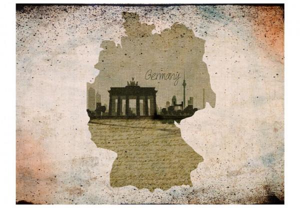 Fototapet - map, Germany, Brandenburg Gate