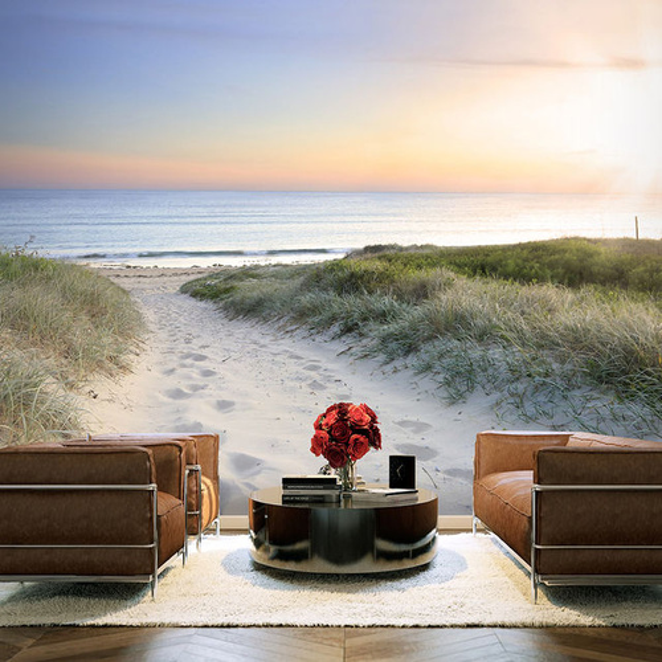 Fototapet - Morning walk on the beach