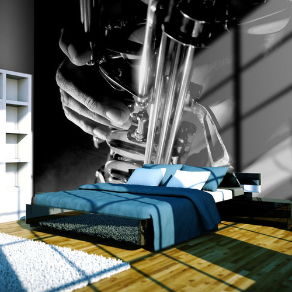 Fototapet - Music and saxophone