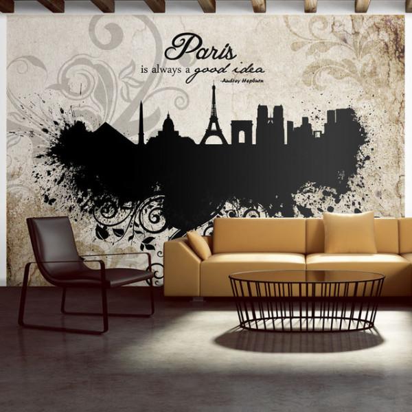 Fototapet - Paris is always a good idea - vintage