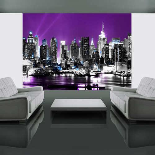 Fototapet - Purple sky over NYC